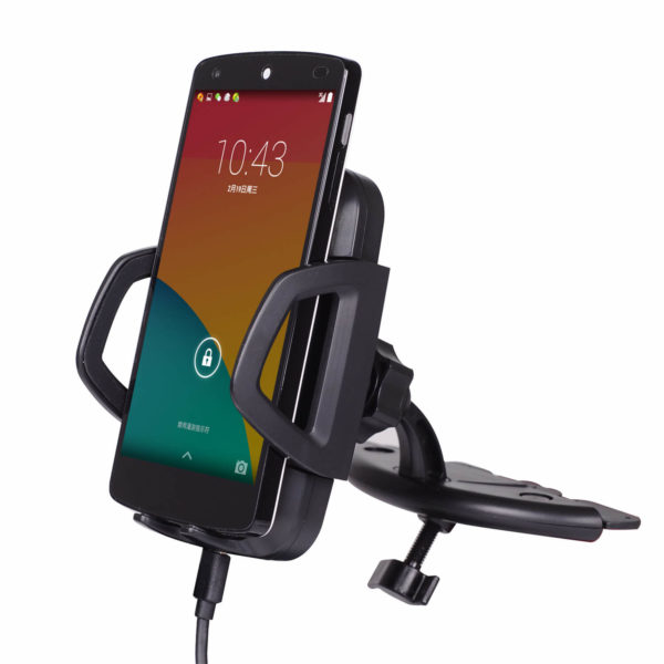 3 Coils CD Slot Mount qi Wireless Car Charger